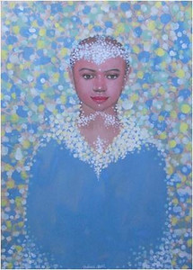 Nguyen Minh Thanh, A Gentle Appearance, 2012. Guoache on Dzo Paper, 33 X 24 in.