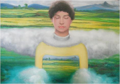 Nguyen Minh Thanh, An Earthly Friendship, 2012.Oil on canvas, 40 X 60 in.