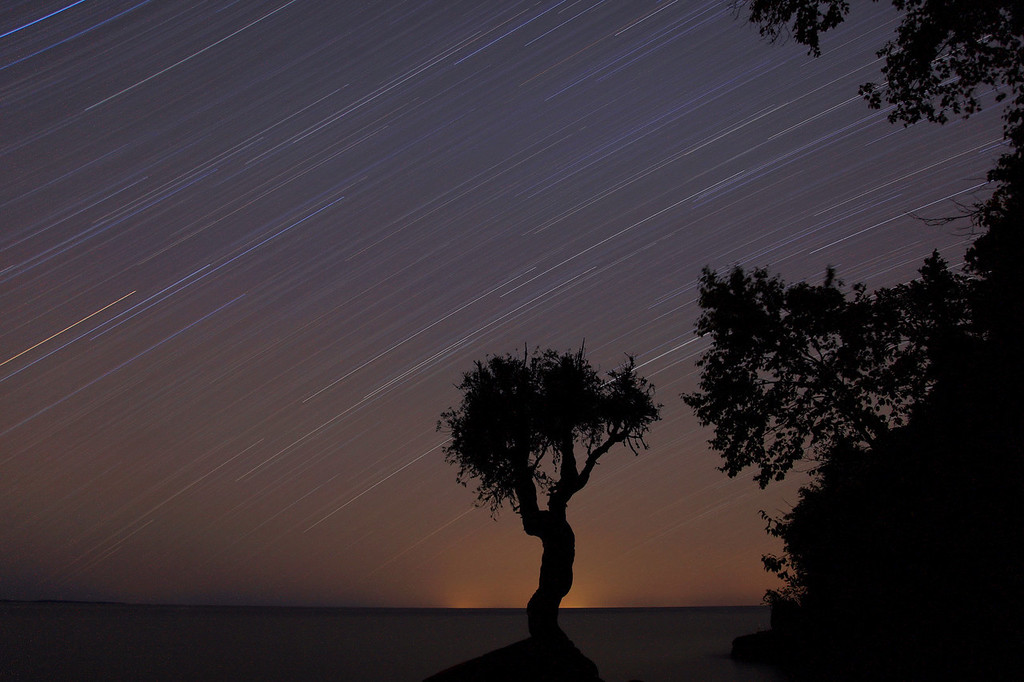 """STAR TRAILS 6326<br /> <br /> """"Never-ending light""""<br /> <br /> 78 minute exposure taken on September 19, 2009 on a seemingly """"pitch-black"""" night.  This image proves that even on the darkest of nights, there is still light to be captured."""