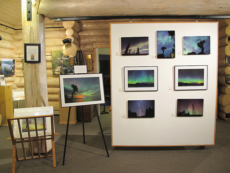 """Northern Photography"" Exhibit<br /> <br /> Johnson Heritage Post Art Gallery - Grand Marais, Minnesota<br /> <br /> Show runs through December 4, 2011<br /> <br /> On display are several prints from my Aurora Borealis (Northern Lights) collection. All of the prints are also for sale! The display includes 5 of my new ""metal"" prints, which are made on sheets of aluminum, as well as 3 more traditional matted and framed prints. There is also a small collection of matted (but unframed) prints available. Be sure to stop by and check them out if you happen to be in Grand Marais between now and December 4th! <br /> <br /> Gallery hours are Wednesday to Saturday from 10:00 AM to 4:00 PM, and Sundays from 1:00 PM to 4:00 PM.<br /> <br /> Listed below are the images that are included in the display at the gallery.  Want to order a print? Simply click on the little shopping cart icon to the lower right of each photo!"