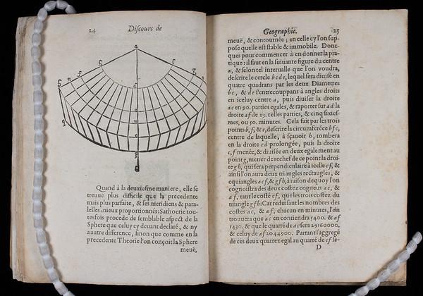 """<b>Author:</b> Jacques Michelet <br> <b>Title:</b><i> Discours de geographie contenant les principales pratiques pour les descriptions de la Terre, et de la mer</i> [A geographical discourse, containing practical principles for describing the Earth and sea]   (Paris, 1615)<br> <b>Shelfmark:</b> D.20.21  <a href=""""http://idiscover.lib.cam.ac.uk/primo-explore/fulldisplay?docid=44CAM_ALMA21413408810003606&amp;context=L&amp;vid=44CAM_PROD&amp;search_scope=SCOP_QUE&amp;tab=cam_lib_coll&amp;lang=en_US""""> (catalogue record)</a>"""