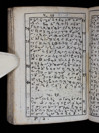 This seventeenth-century miniature New Testament is written in the shorthand system of Jeremiah Rich. The size of the book advertises the concision of Rich's shorthand. Rich claimed that his system was received at 'both the universities with great approbation and applause'. (One of two pages shown.)  Title: The book of the New Testament of our Lord and saviour Jesus Christ, according to the art of short writing invented by Jeremiah Rich   (London, 1659) Shelfmark: H.17.58   (catalogue record)