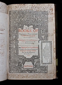 In the early years of Henry's Church, new prayer books, introduced sporadically, were often theologically at odds. Not until 1549, during the reign of his son Edward VI, was a single service book – the Book of Common Prayer - determined for the use of the whole Church. Until the authoritative version of 1662, the Book of Common Prayer was amended and revised frequently, and even banned twice – during Mary's Catholic reign, and again during the English Civil War. This remarkable edition from 1634 is replete with annotations, sermon notes, commentaries and drafts of letters. It includes detailed notes on the various revisions of the Book of Common Prayer before 1662.  (One of seven images.)  Author: Church of England  Title: The booke of common prayer, and administration of the sacraments  (London, 1634) Shelfmark: N.1.31