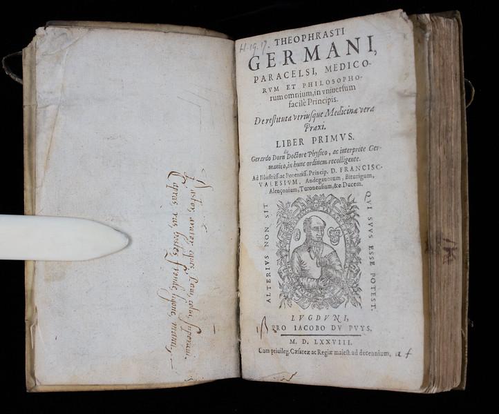 Author: Paracelsus  Title: De restituta utriusque medicinae vera praxi  (London, 1578) Shelfmark: H.19.17