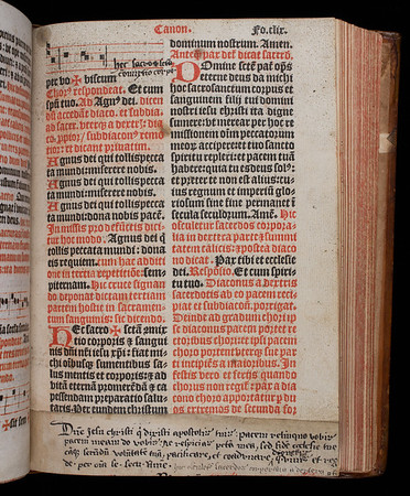 """An early sixteenth-century owner of this book redacted this Catholic missal, expurgating references to the Pope in accordance with Henry VIII's orders. However, the margins also contain several later annotations, probably added by Thomas Bedall (1546-1644), that refer to the Catholic Mass. Most intriguing is the Catholic prayer for ecumenical unity in the Church that he has pasted to the foot of this page, perhaps as a symbolic call for Church unification.<br><br> <b>Author:</b> Catholic Church<br> <b>Title:</b> <i>Missale ad vsum ecclesie Sarisburiensis</i> [ Salisbury missal] (Paris, 1529)<br> <b>Shelfmark:</b> H.6.24<a href=""""https://idiscover.lib.cam.ac.uk/primo-explore/fulldisplay?docid=44CAM_ALMA21420881150003606&amp;context=L&amp;vid=44CAM_PROD&amp;search_scope=SCOP_QUE&amp;tab=cam_lib_coll&amp;lang=en_US""""> (catalogue record)</a>"""