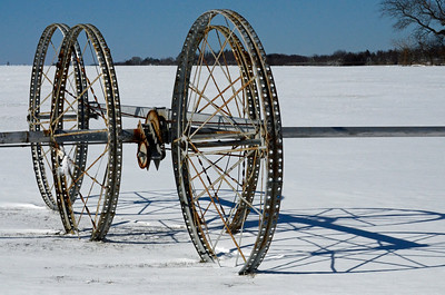 Resting Irrigation Wheels