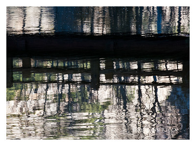 Swinging Bridge Reflection