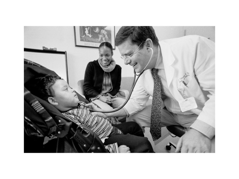 Dr. Timothy Doran, Chairman of Pediatrics at GBMC (Greater Baltimore Medical Center), begins a routine exam with a stethoscope and a smile. Dr. Doran has been Max's pediatrician since birth and was quick to respond to our early concerns for our little boy's health. <br /> <br /> Over the years, Dr. Doran has gone above and beyond the call of duty, and has most certainly helped our family through difficult times. He has never been more than one phone call away, and has personally overseen the standard of care during many of our son's hospital stays.