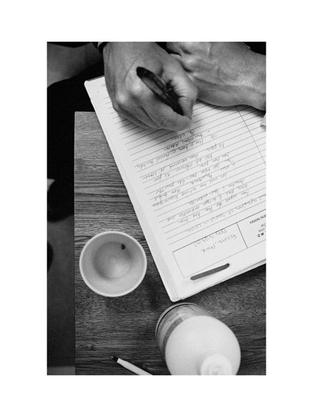 Here, a kidney stone measuring 1/2cm sits in a cup next to the notepad of Max's pediatrician, Dr. Timothy Doran. This was during an emergency office visit after Jeanette found the stone partially expelled in his diaper at the beginning of 2005. <br /> <br /> Max's organ functions and blood work must be monitored closely because of the types and amounts  of medication that he takes, and to insure that he is recieving the balanced nutrition that he needs.