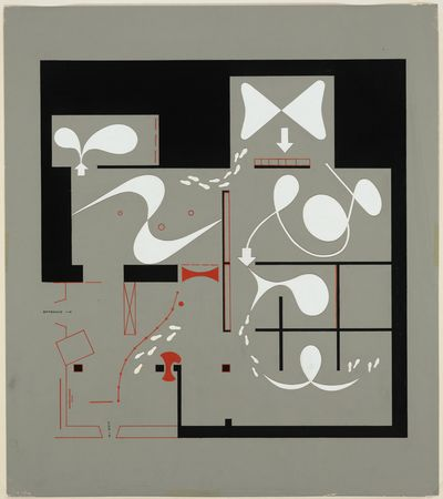 Floor plan by Herbert Bayer