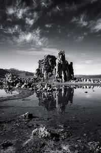 Mono Lake Study. Sierra Nevada, CA. 2009. 10 x 15 inches.