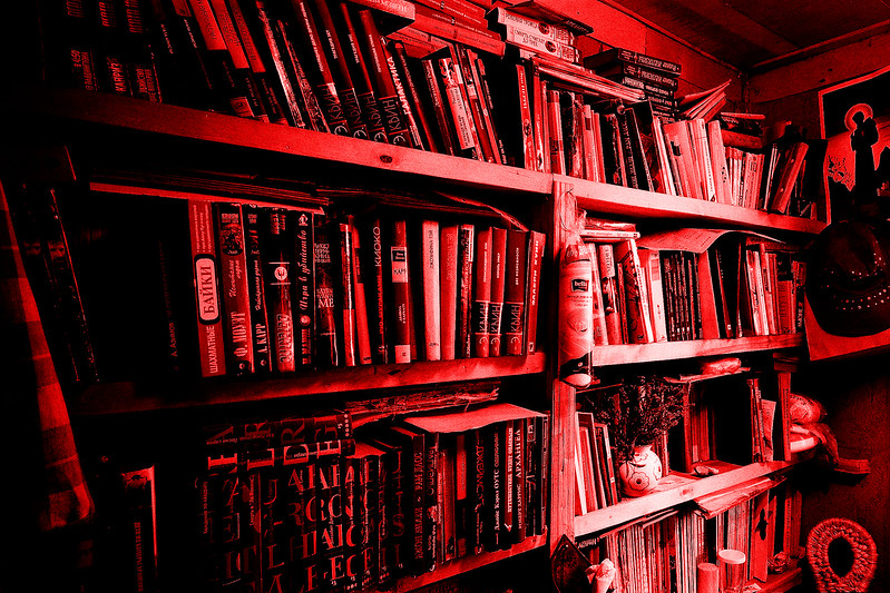 Красные книги на даче // Red book at Dacha