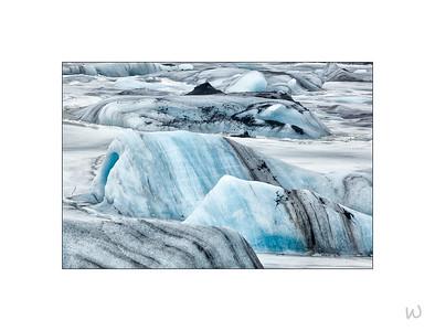 Icebergs, Svínafellsjökull Glacier