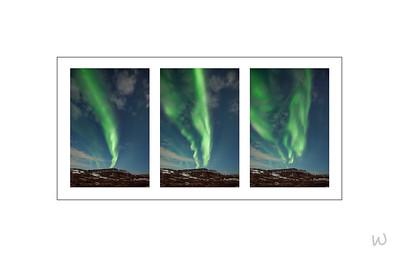 Aurora Borealis over Hverfjall
