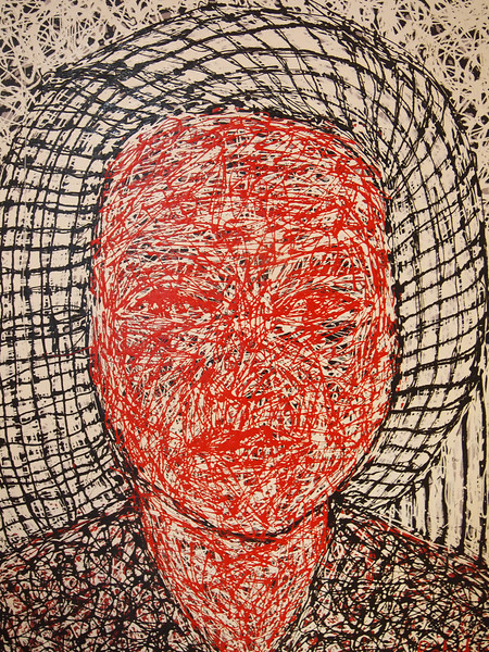 Pen Robit, Untitled, 2011. Enamel on canvas, 44 x 52 in.