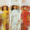 Lim Khim Katy, Marriage; Oil on canvas; 36 x 40 in (triptych); 2013
