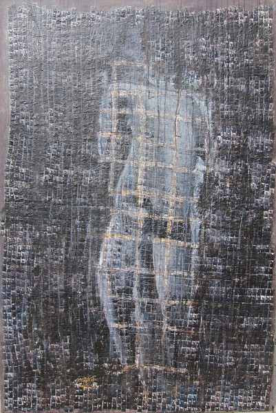 Heng Ravuth, Innermost, The Building, 2011. Mixed media on canvas. 44 x 66 in