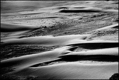 Oregon Dunes #1, Oregon Dunes National Monument area, Oregon This image features dunes and sand in the foreground and breaking surf in the background. Captured at sunset facing northwest, turned 90 degrees north from the same spot as Oregon Dunes #1 was captured.  Copyright (c) Robert Ash