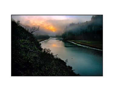Sunrise #1, Big River, Mendicino County, California Purchased by Charlene and Harry Chang  Copyright (c) Robert Ash