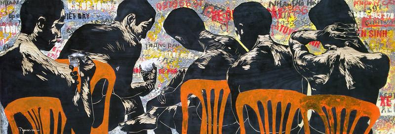 Ngo Van Sac, Rest 3, 2013. Mixed media on wood,