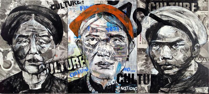 Ngo Van Sac, Past, 2013. Acrylic on canvas, 36 X 16 in.