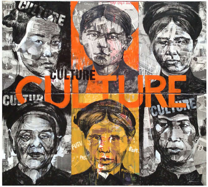 Ngo Van Sac, Culture, 2013. Acrylic on canvas, 36 X 32 in.