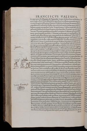 "Truce of Nice, 1538 <br><br> <b>Author:</b> Paolo Emili<br> <b>Title:</b><i> De rebus gestis Francorum </i> [History of French kings]  (Paris, 1550)<br> <b>Shelfmark:</b> G.3.19 <a href=""http://idiscover.lib.cam.ac.uk/permalink/f/1nnjft8/44CAM_ALMA21413379630003606""> (catalogue record)</a><br> <b>Digital copy:</b> <a href=""https://cudl.lib.cam.ac.uk/view/PR-G-00003-00019"">Cambridge Digital Library</a>"