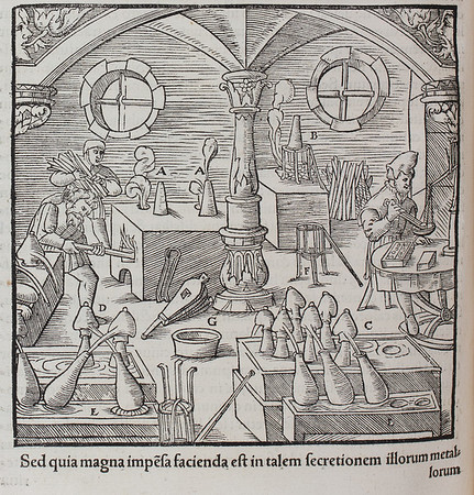 "<b>Author:</b> Agricola<br> <b>Title:</b><i> De re metallica </i> [On the nature of metals] (Basel, 1561)  <br> <b>Shelfmark:</b> D.1.3 <a href=""http://idiscover.lib.cam.ac.uk/permalink/f/1nnjft8/44CAM_ALMA21397911990003606""> (catalogue record)</a>"