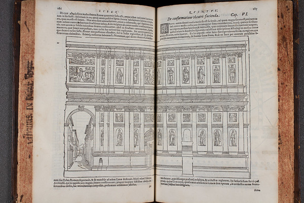 "<b>Author:</b> Vitruvius Pollio<br> <b>Title:</b><i> De architectura libri decem</i> [Ten books on architecture] (Venice, 1567) <br> <b>Shelfmark:</b> F.2.24 <a href=""http://idiscover.lib.cam.ac.uk/primo-explore/fulldisplay?docid=44CAM_ALMA21394501550003606&amp;context=L&amp;vid=44CAM_PROD&amp;search_scope=SCOP_QUE&amp;tab=cam_lib_coll&amp;lang=en_US""> (catalogue record)</a>"