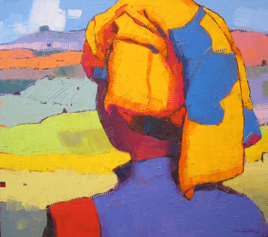Than Kyaw Htay, The Turban (6), 2013. Oil on canvas, 41 X 36 in.