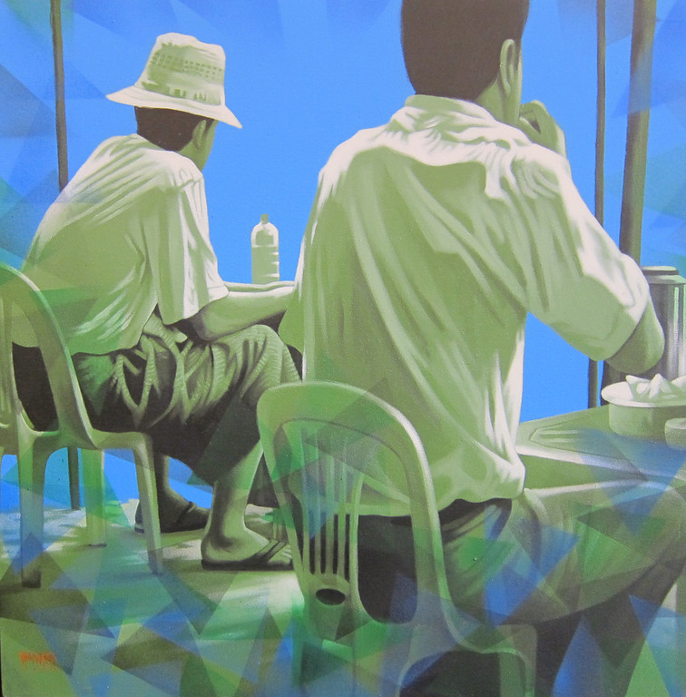 Yan Naing Tun, What will be next? (12), 2013. Acrylic on canvas, 36 X 36 in.