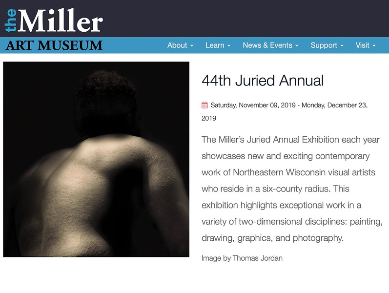 MILLER ART MUSEUM - 44th JURIED ANNUAL EXHIBITION