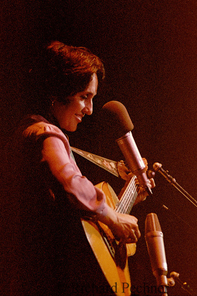 Joan Baez performing at the Benefit for Cambodian Emergency Relief Fund, Oakland Coliseum, 1/13/1980