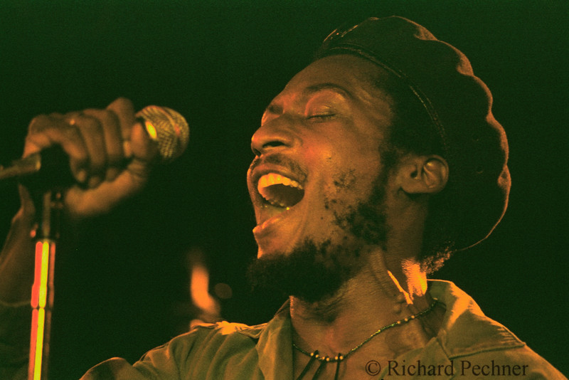 """Jimmy Cliff singing """"The Harder They Come"""" in San Francisco, Ca, in May of 1981."""
