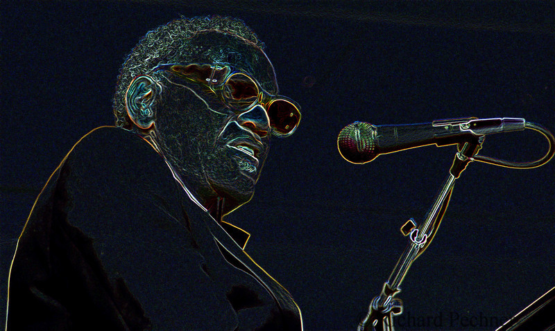 Ray Charles after being 'photoshoped""