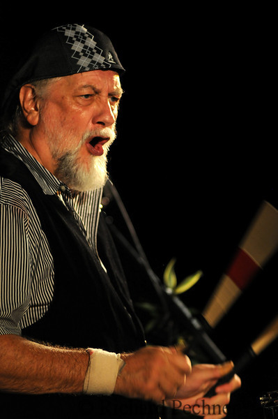 """Mick Fleetwood drumming at the """"Benefit for the Arts"""" for the Maui Public Schools, at the Royal Lahaina, Kaanapali, HI on September 13th, 2009."""