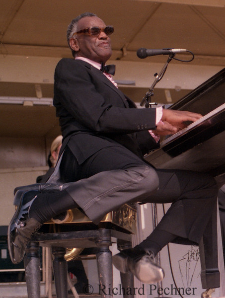 """""""Feets a Flyin' """" Mr.  Ray Charles performing at the Sonoma County Fair, Santa Rosa, CA on August 12th, 1973."""
