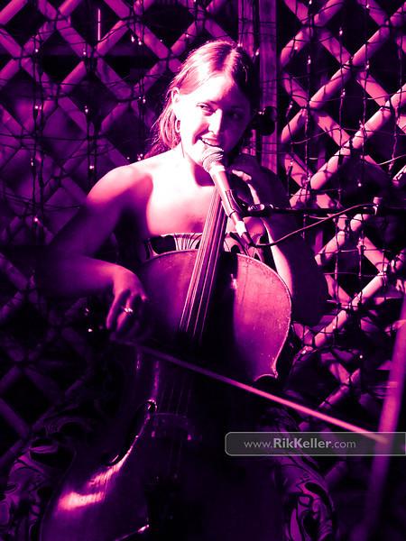 cellist Nancy Martin of Kites & Crows at Sophia's Thai Kitchen - July 2011