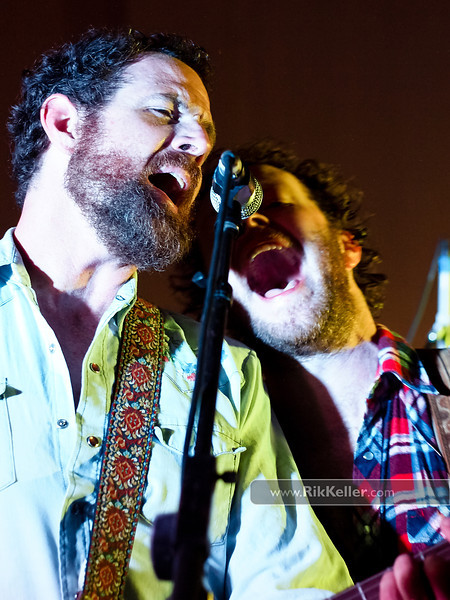 Scott Kinnebrew (L) and Tim Jones (R) of Truth & Salvage Co. at the inaugural Davis Music Festival - June 2011