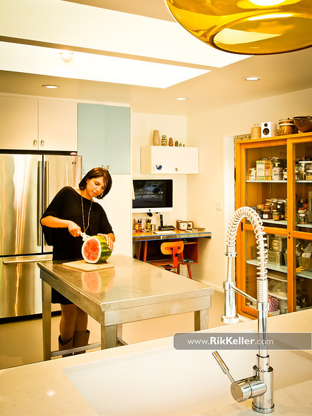 Kitchen remodel/interior design (faux vintage 1970s Sunset Magazine look). Davis CA - May 2011