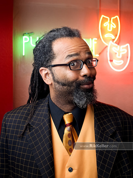 Ngaio Bealum, comedian, at the Sacramento Punchline