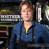 Nathan Niebergall of The Southern Sandwich Company (San Francisco) at the Sacramento Mobile Food Festival (SactoMoFo)