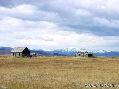 "©Bobbie Gallia; ""Once Upon a Time...""; Old ranch house north of US30 in eastern Idaho, about 11 miles west of Soda Springs."