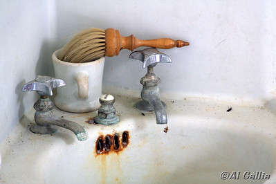 """©Al Gallia; """"Abandoned and Forgotten""""; Bathroom in late 1800's Acadian/Creole house at Vermilionville Heritage & Folklife Park, Lafayette, Louisiana."""