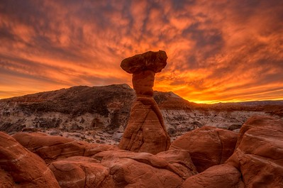 Hot Sunset at Red Toadstool