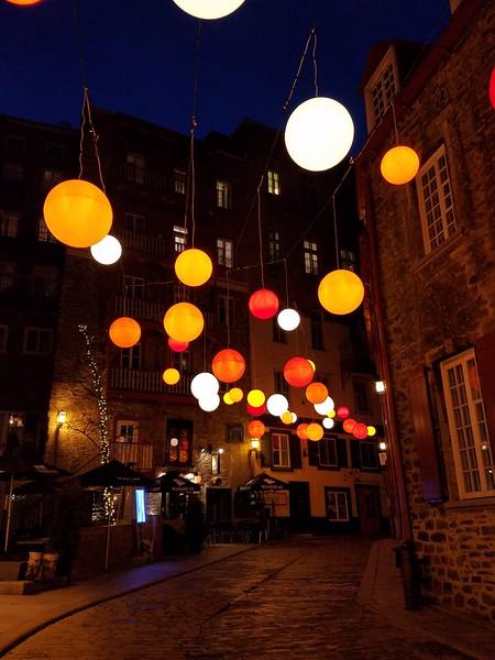 Floating Light in Old Quebec City