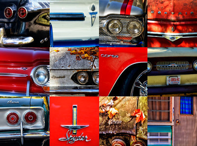 """Corvair Collage"" - Various Corvairs"