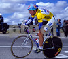 Tony Rominger in the leader's jersey of the 1994 Vuelta a Espana