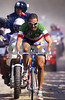 Andrea Tafi on his way to victory in the 2000 Paris-Roubaix