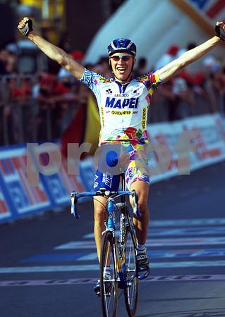 Axel Merckx wins a stage of the 1999 Giro d'Italia